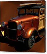 1929 Ford Model A Woody Canvas Print