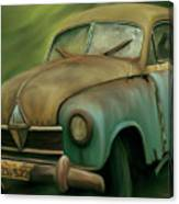 1950's Vintage Borgward Hansa Sports Coupe Car Canvas Print