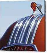 1952 Pontiac Tin Woodie Wagon Hood Ornament Canvas Print