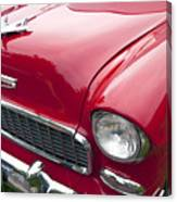 1955 Chevrolet Bel Air Hood Ornament Canvas Print