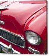1955 Chevrolet Bel Air Hood Ornament Canvas Print
