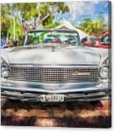 1959 Lincoln Continental Town Car Mk Iv Painted  Canvas Print