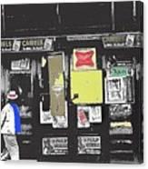 1960's Cigarette Beer Ads Meyer Avenue Barrio Tucson Arizona 1968-2011 Canvas Print