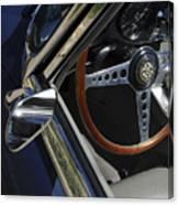 1963 Jaguar Xke Roadster Steering Wheel Canvas Print