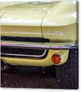 1965 Yellow Sting Ray Front Bumper Canvas Print