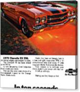 1970 Chevrolet Chevelle Ss 396 Canvas Print