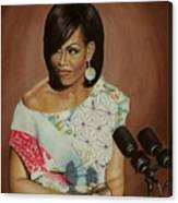 1st Lady Michelle Obama Canvas Print