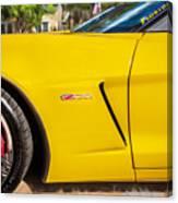 2013 Chevrolet Corvette Zo6 Painted Bw  Canvas Print