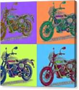 2016 Moto Guzzi V7ii Stornello - Warhol Style Canvas Print