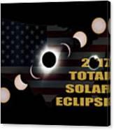 2017 Total Solar Eclipse Across America Canvas Print