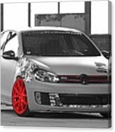 246062 Car Golf Gti Volkswagen Golf Vi Wheels Canvas Print
