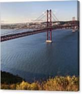 25th Of April Suspension Bridge In Lisbon Canvas Print