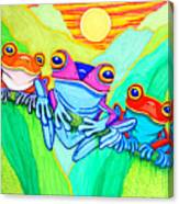 3 Little Frogs Canvas Print