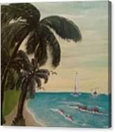 3 Palms Canvas Print