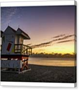 7901- Miami Beach Sunrise  Canvas Print