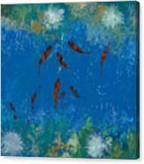 9 Pesciolini Rossi Canvas Print