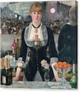 Edouard Manet - A Bar At The Folies-bergere Canvas Print
