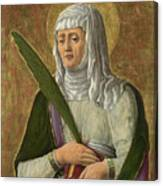 A Female Saint Canvas Print