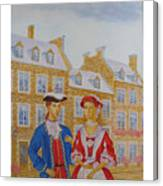 A Gentlemen With His Lady . Canvas Print