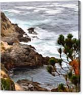 A Grey Day At Big Sur 2 Canvas Print