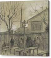 A Guinguette Paris, February - March 1887 Vincent Van Gogh 1853 - 1890 Canvas Print