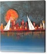 A Happy City Canvas Print