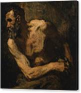 A Miser Study For Timon Of Athens Canvas Print