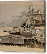A Pair Of Israel Defense Force Merkava Canvas Print