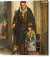 A Poor Beggar Bodie Canvas Print