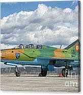 A Romanian Air Force Mig-21b Airplane Canvas Print