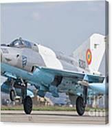 A Romanian Air Force Mig-21c Taking Canvas Print