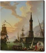 A Seaport Canvas Print