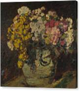 A Vase Of Wild Flowers Canvas Print