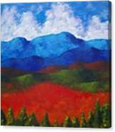 A View Of The Blue Mountains Of The Adirondacks Canvas Print