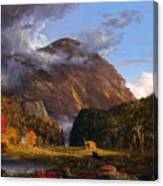 A View Of The Mountain Pass Called The Notch Of The White Mountains Canvas Print