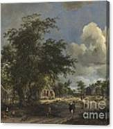 A View On A High Road Canvas Print