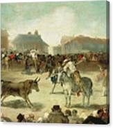 A Village Bullfight Canvas Print
