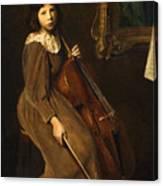 A Young Violoncellist Canvas Print