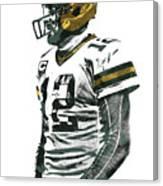 Aaron Rodgers Green Bay Packers Pixel Art 5 Canvas Print