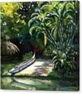 Abandoned Canoe Canvas Print