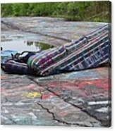 Abandoned Couch On The Graffiti Highway Canvas Print