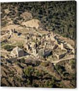 Abandoned Village Of Occi And The Coast Of Corsica Canvas Print