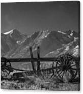 Abandoned Wagon In The High Sierra Nevada Mountains Canvas Print