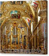 Abbey Of Montecassino Altar Canvas Print