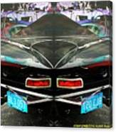 Abstract Black Car Canvas Print