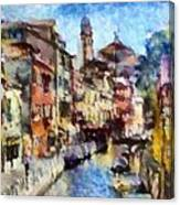 Abstract Canal Scene In Venice L A S Canvas Print