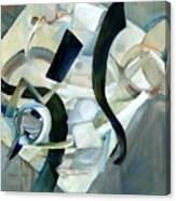 Abstract In Gray Canvas Print