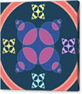 Abstract Mandala Pink, Dark Blue And Cyan Pattern For Home Decoration Canvas Print