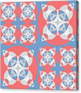 Abstract Mandala White, Pink And Blue Pattern For Home Decoration Canvas Print