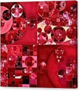 Abstract Painting - Dark Scarlet Canvas Print